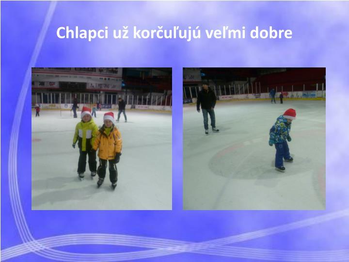 Chlapci už korčuľujú veľmi dobre