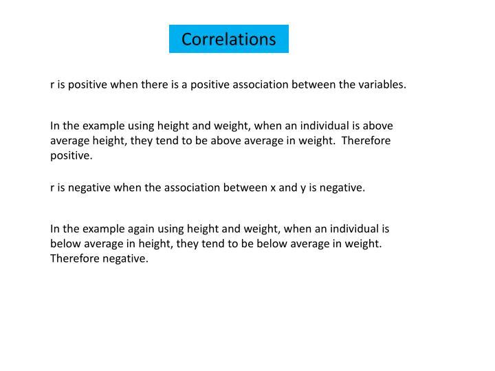 Correlations