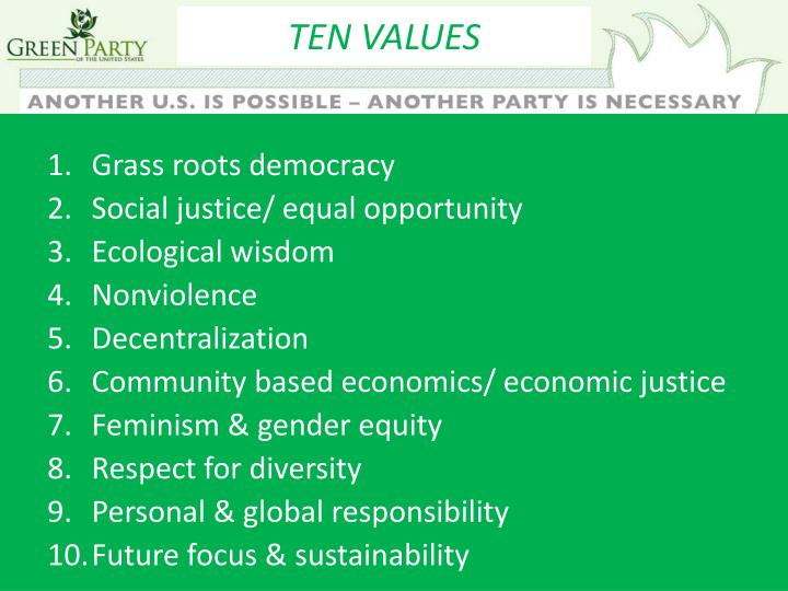 TEN VALUES