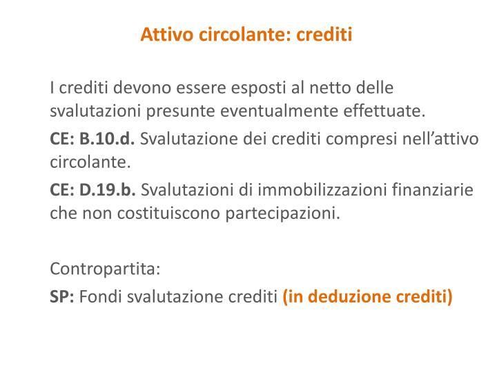 Attivo circolante: crediti
