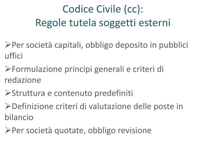 Codice Civile (cc):