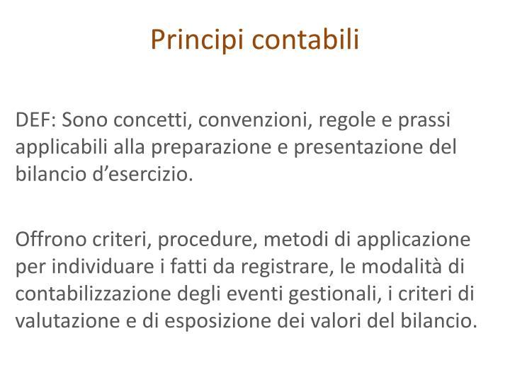 Principi contabili