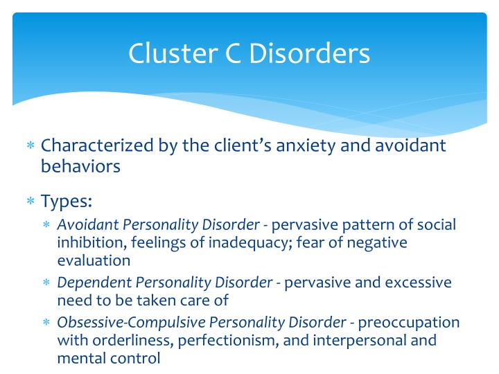 Cluster C Disorders