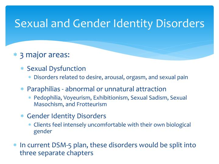 Sexual and Gender Identity Disorders