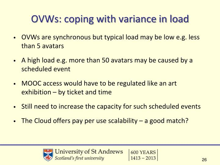 OVWs: coping with variance in load