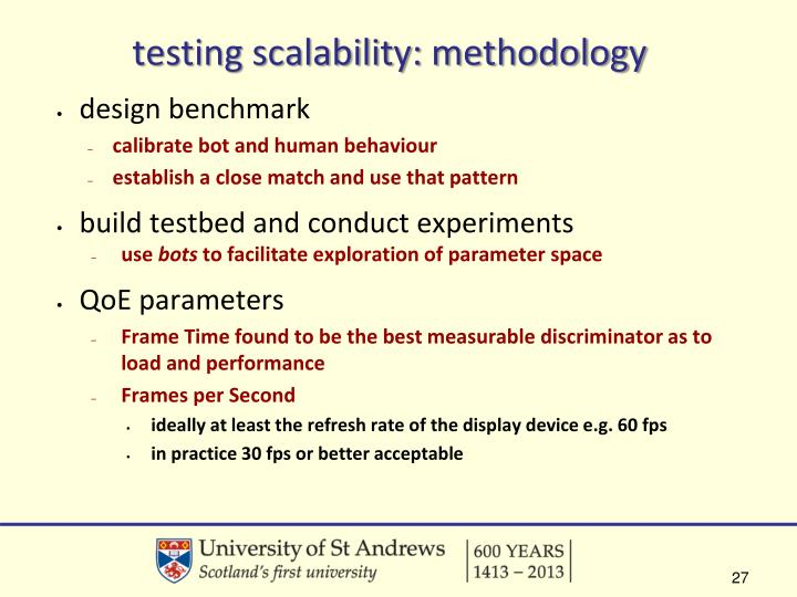 testing scalability: methodology