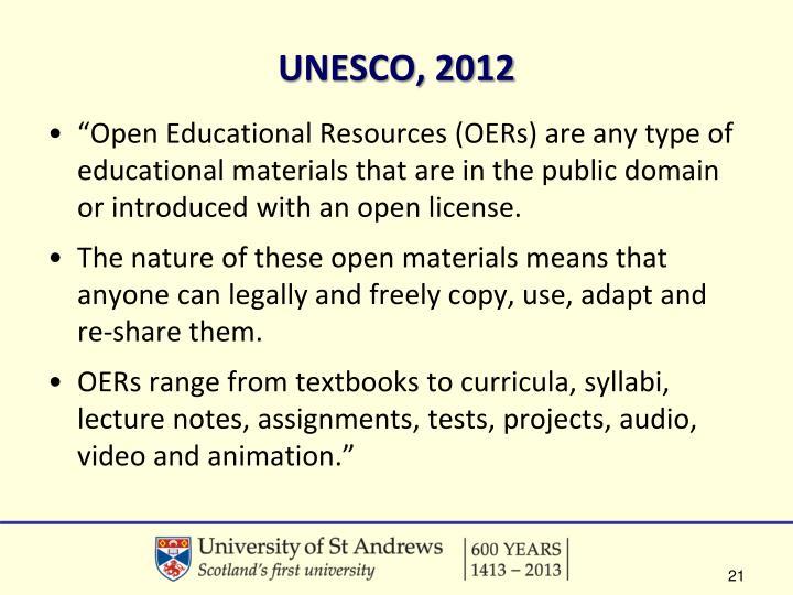 UNESCO, 2012
