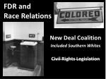 fdr and race relations