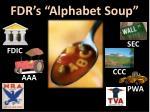 fdr s alphabet soup