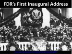 fdr s first inaugural address