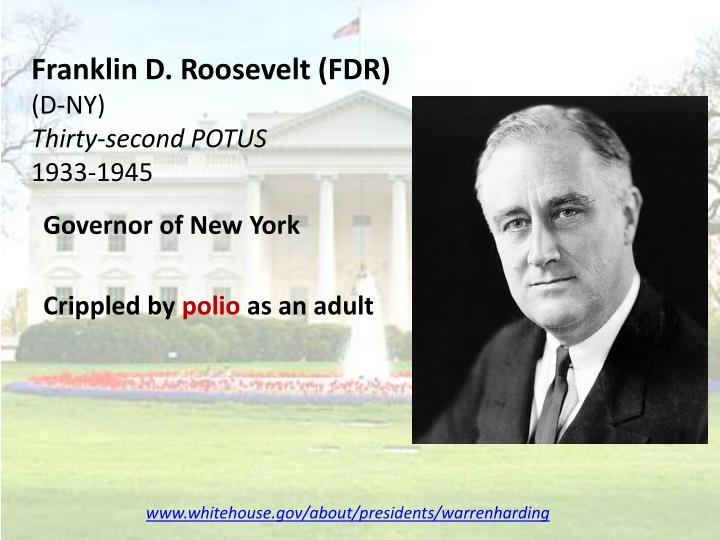 Franklin d roosevelt fdr d ny thirty second potus 1933 1945