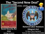 the second new deal 1935 1936