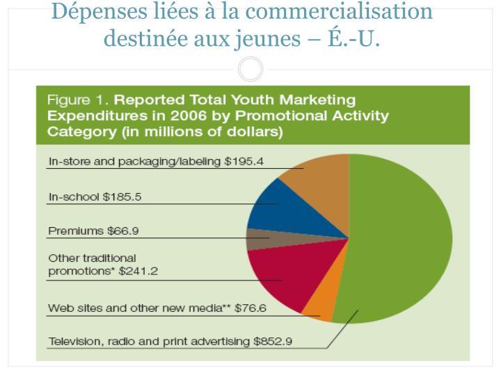 Dépenses liées à la commercialisation