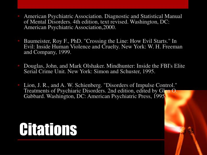 American Psychiatric Association. Diagnostic and Statistical Manual of Mental Disorders. 4th edition, text revised. Washington, DC: American Psychiatric Association,2000.