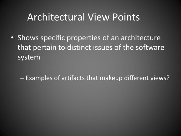 Architectural View Points