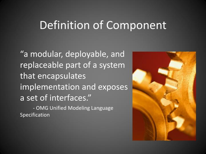 Definition of Component