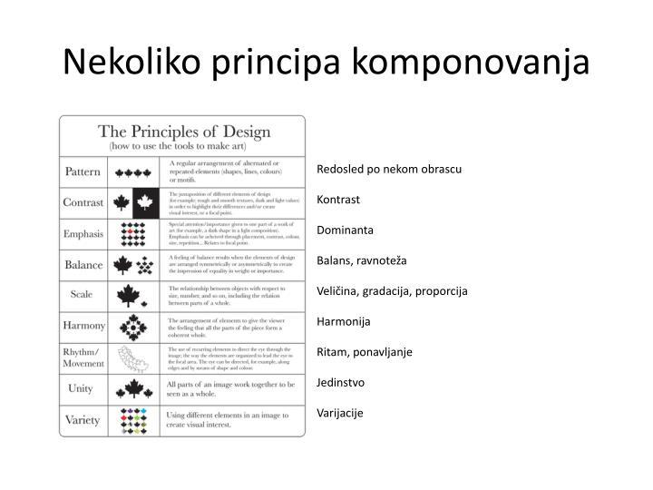 Nekoliko principa komponovanja
