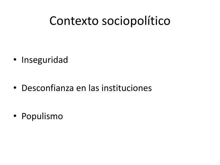 Contexto sociopolítico