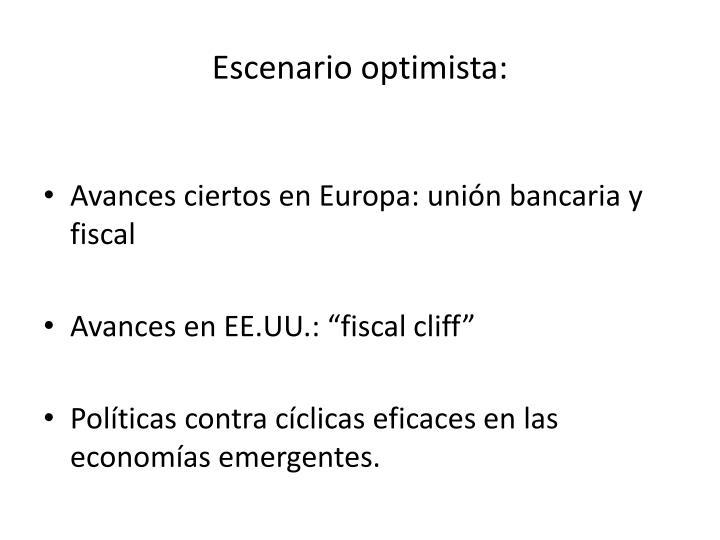 Escenario optimista: