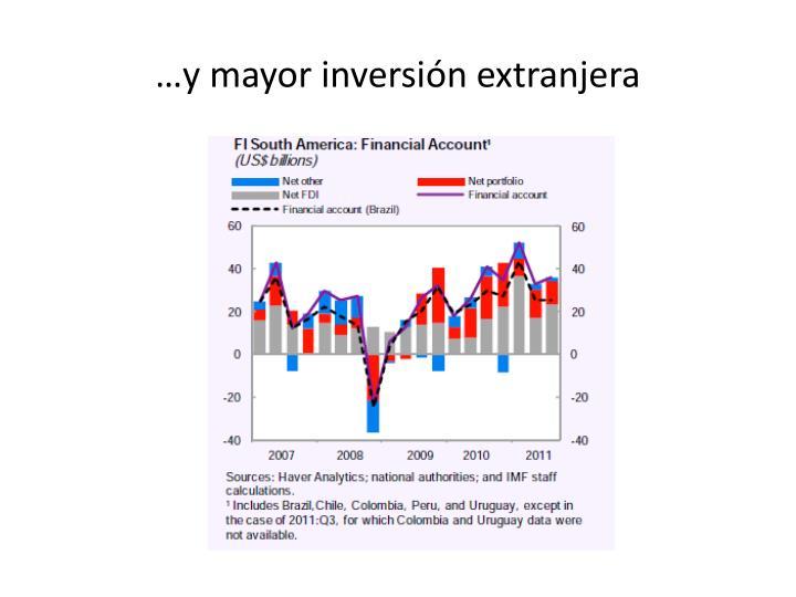 …y mayor inversión extranjera