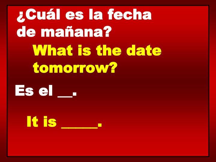 ¿Cuál es la fecha