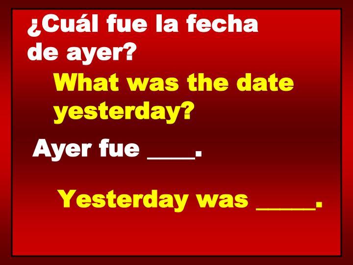 ¿Cuál fue la fecha