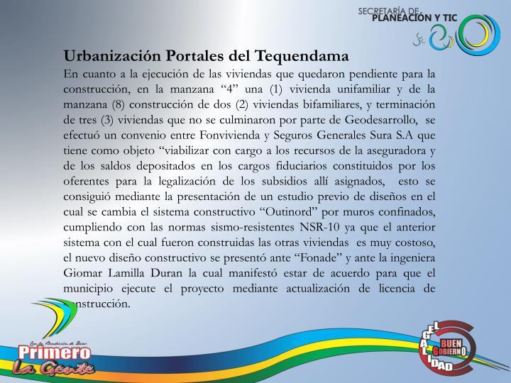 Urbanización Portales del Tequendama