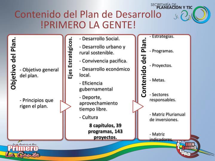 Contenido del Plan de Desarrollo