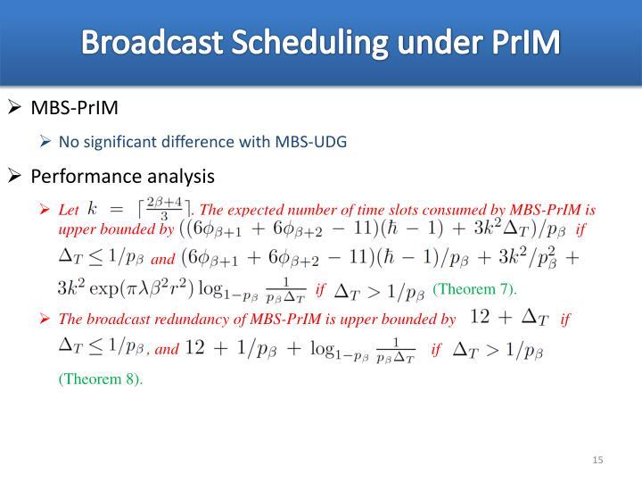 Broadcast Scheduling under
