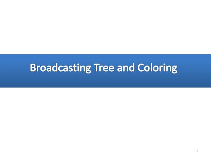 Broadcasting Tree and Coloring