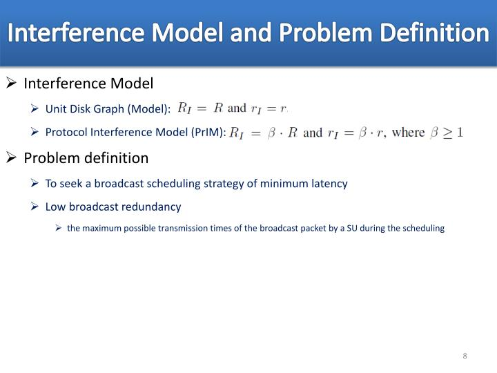 Interference Model and Problem Definition