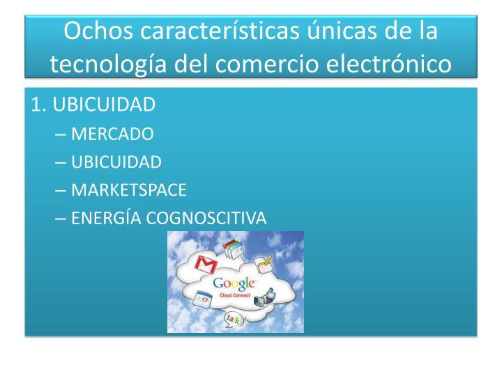 Ochos características únicas de la tecnología del comercio electrónico