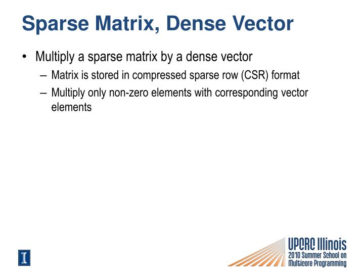 Sparse Matrix, Dense Vector