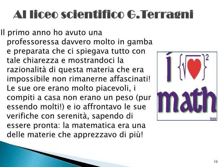 Al liceo scientifico