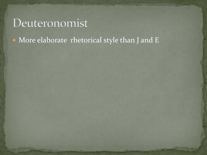 Deuteronomist