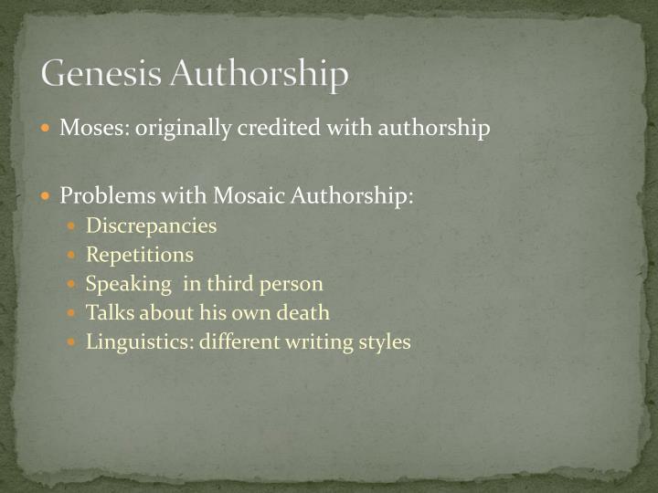 Genesis Authorship