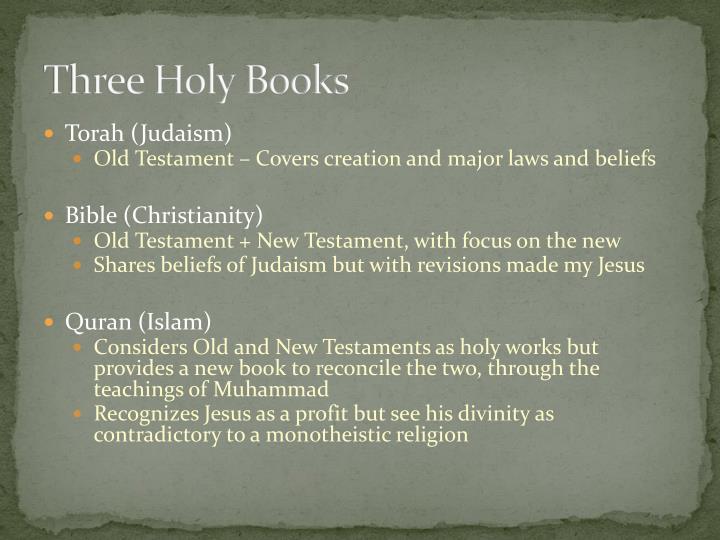 Three Holy Books