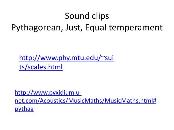 Sound clips