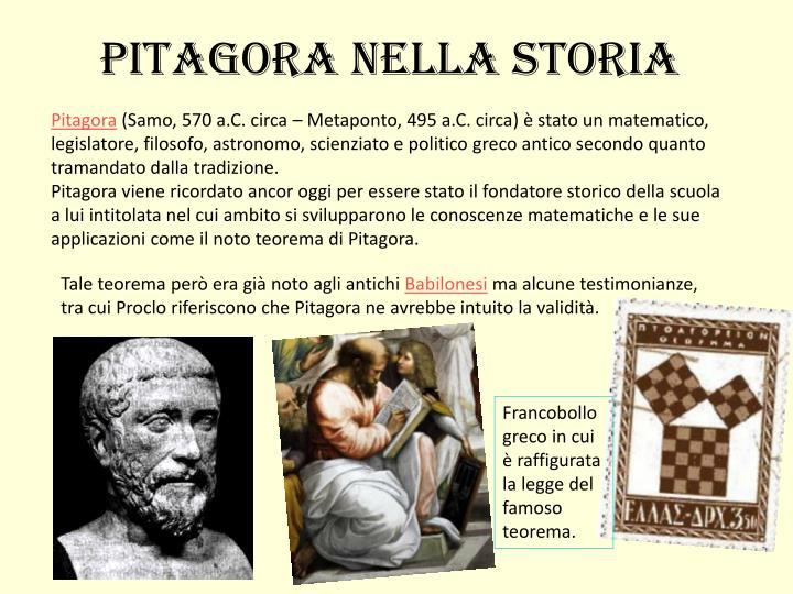 Pitagora nella storia