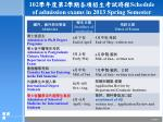 102 2 schedule of admission exams in 2013 spring semester1