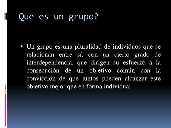 Que es un grupo?