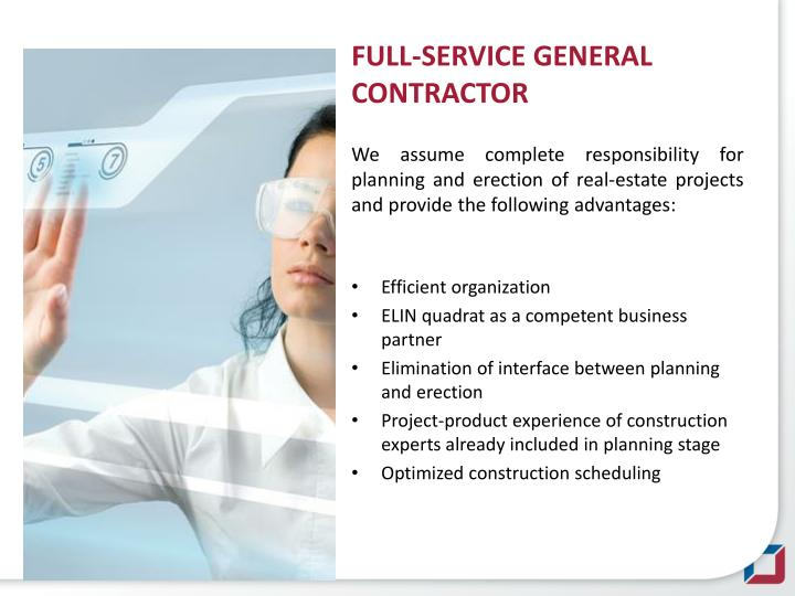 FULL-SERVICE GENERAL CONTRACTOR