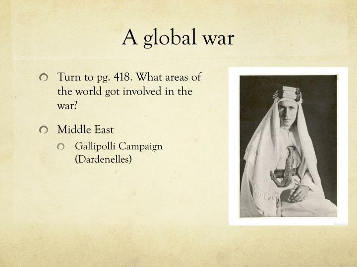 A global war