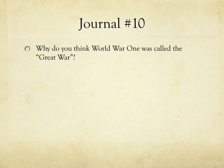 Journal #10