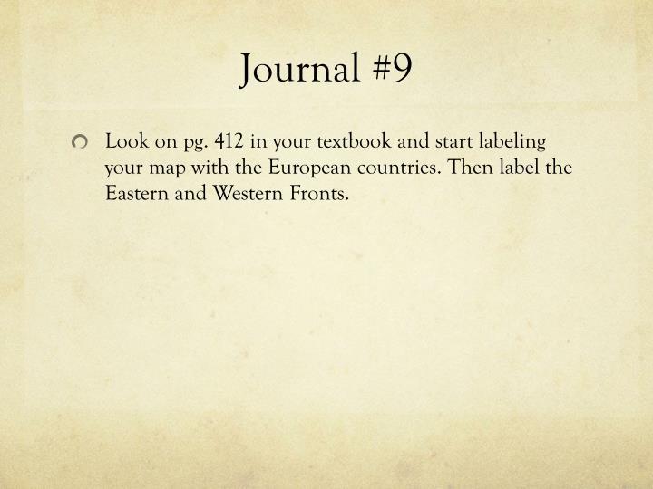 Journal #9