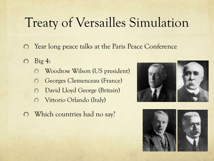 Treaty of Versailles Simulation