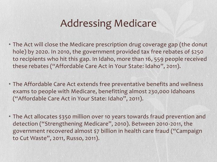 Addressing Medicare
