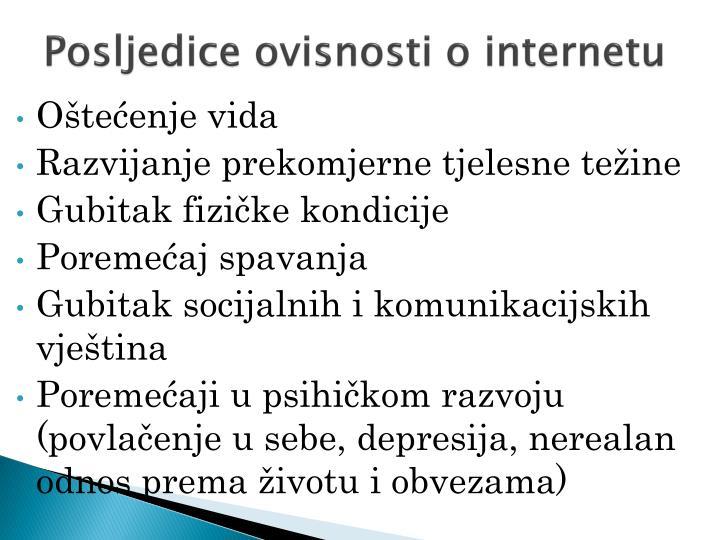Posljedice ovisnosti o internetu