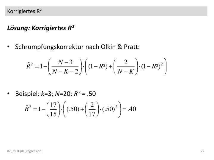 Korrigiertes R²