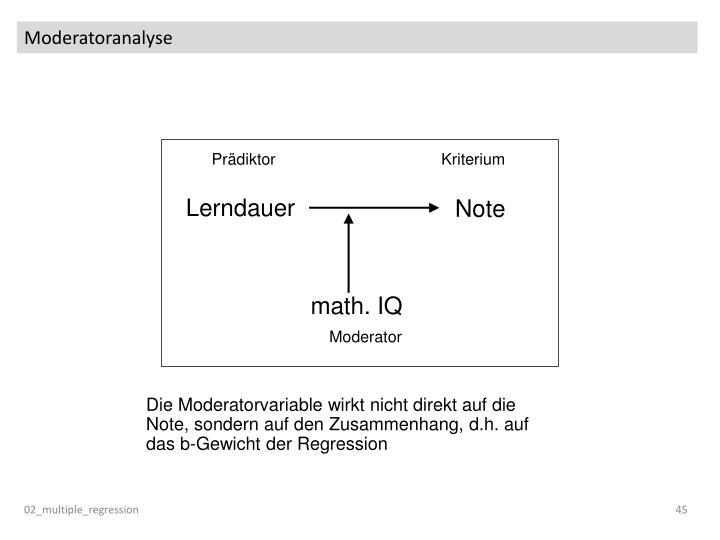 Moderatoranalyse